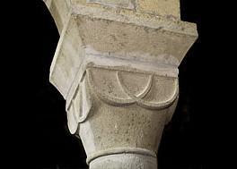 S. Egidio in Fontanella, capitello delle colonne seconda a sx dall'ingresso e sesta a dx
